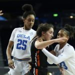 Kelli Hayes on defense. Photo by Maria Noble/WomensHoopsWorld.