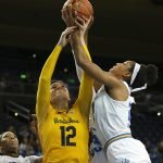 Monique Billings out-rebounds Penina Davidson. Photo by Maria Noble/WomensHoopsWorld.