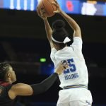 Monique Billings secures the leaping pass. Photo by Maria Noble/WomensHoopsWorld.