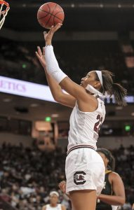 A'ja Wilson. Photo courtesy of South Carolina Athletics.