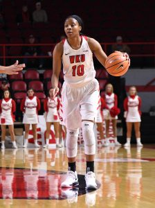 Tashia Brown was voted Conference-USA player of the year for 2017-2018. Photo by Steve Roberts/Icon Sportswire.
