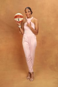 NEW YORK, NY - APRIL 04: A'ja Wilson poses for a portrait after being selected number one overall by the Las Vegas Aces during the WNBA Draft on April 12, 2018 in New York, New York at the Nike New York Headquarters. NOTE TO USER: User expressly acknowledges and agrees that, by downloading and/or using this photograph, user is consenting to the terms and conditions of the Getty Images License Agreement. Mandatory Copyright Notice: Copyright 2018 NBAE (Photo by Michael J. LeBrecht II/NBAE via Getty Images)