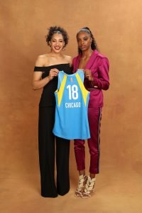 NEW YORK, NY - APRIL 04: Gabby Williams and Diamond DeShields pose for a portrait during the WNBA Draft on April 12, 2018 in New York, New York at the Nike New York Headquarters. NOTE TO USER: User expressly acknowledges and agrees that, by downloading and/or using this photograph, user is consenting to the terms and conditions of the Getty Images License Agreement. Mandatory Copyright Notice: Copyright 2018 NBAE (Photo by Michael J. LeBrecht II/NBAE via Getty Images)
