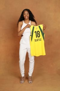NEW YORK, NY - APRIL 04: Jordin poses for a portrait during the WNBA Draft on April 12, 2018 in New York, New York at the Nike New York Headquarters. NOTE TO USER: User expressly acknowledges and agrees that, by downloading and/or using this photograph, user is consenting to the terms and conditions of the Getty Images License Agreement. Mandatory Copyright Notice: Copyright 2018 NBAE (Photo by Michael J. LeBrecht II/NBAE via Getty Images)