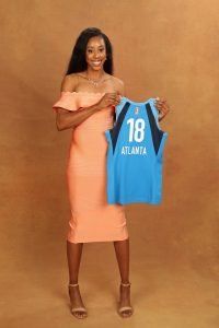 NEW YORK, NY - APRIL 04: Monique Billings poses for a portrait after being selected by the Atlanta Dream during the WNBA Draft on April 12, 2018 in New York, New York at the Nike New York Headquarters. (Photo by Michael J. LeBrecht II/NBAE via Getty Images)