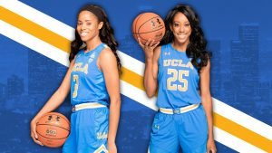 Jordin Canada, left and Monique Billings, each set numerous personal records during their careers at UCLA.