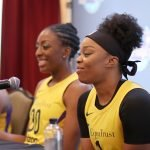 Nneka Ogwumike and Odyssey Sims. Photo by Maria Noble/WomensHoopsWorld.