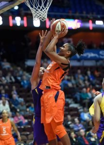 Alyssa Thomas powers up a bucket. Photo courtesy of Connecticut Sun.