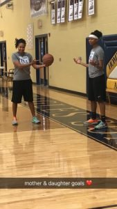 Erica and Shae Routt workout together. Photo courtesy of Erica Routt.