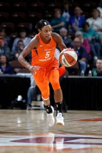 Jasmine Thomas has led the Sun with fire and energy. Photo by Chris Marion/NBAE via Getty Images.