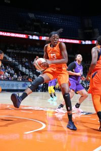 Chiney Ogwumike has returned to the court for the first time since the 2016 season with renewed energy. Photo by Chris Marion/NBAE via Getty Images.