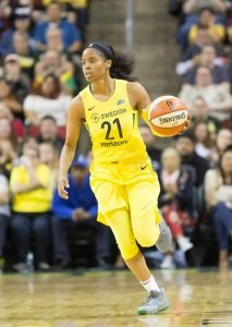 Rookie Jordin Canada had nine points and four steals on the night. Neil Enns/Storm Photos.