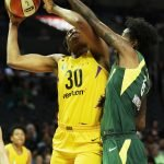 Natasha Howard defends Nneka Ogwumike. Maria Noble/WomensHoopsWorld.