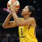 Candace Parker shoots the ball. Photo by Maria Noble/WomensHoopsWorld.