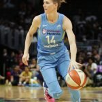 Allie Quigley drives the ball up court. Photo by Maria Noble/WomensHoopsWorld.