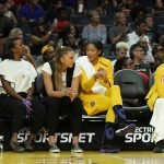 Candace Parker talks with Maria Vadeeva. Photo by Maria Noble/WomensHoopsWorld.