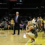 Sparks coach Brian Agler and Dream coach Nicki Collen. Photo by Maria Noble/WomensHoopsWorld.