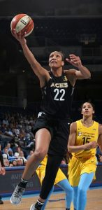WNBA 2018 No. 1 draft pick A'ja Wilson leads the Las Vegas Aces in scoring this season, averaging 20.5 points per game, as well as 7.6 rebounds. Photo courtesy of Las Vegas Aces.