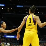 Monique Billings guards Candace Parker. Maria Noble/WomensHoopsWorld.