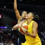 Candace Parker makes a run at the rim. Maria Noble/WomensHoopsWorld.
