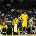 The Sparks bench takes in the loss. Maria Noble/WomensHoopsWorld.