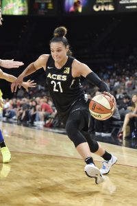 Kayla McBride drives to the basket. Photo by David Becker/NBAE via Getty Images.