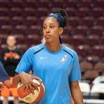 Uncasville, Connecticut/USA - July 17, 2018: Atlanta Dream forward Monique Billings before a WNBA basketball game between the Atlanta Dream and the Connecticut Sun at Mohegan Sun Arena. The Atlanta Dream defeated the Connecticut Sun 86-83. Chris Poss Photo.