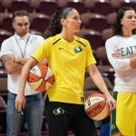 UNCASVILLE, CONNECTICUT/USA - July 20, 2018: Seattle Storm guard Sue Bird before a Seattle Storm vs Connecticut Sun WNBA basketball game at Mohegan Sun Arena. Chris Poss Photo.