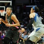 Maya Moore guards Candace Parker. Maria Noble/WomensHoopsWorld.