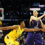 Reigning defensive player of the year Alana Beard guards Diana Taurasi. Maria Noble/WomensHoopsWorld.