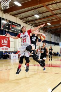 Jr. WNBA teams compete at The Map Sports Facility in Garden Grove, Calif. in May. on May 13, 2018 in Garden Grove, Calif. Photo by Adam Pantozzi/NBAE via Getty Images/Jr. NBA.