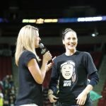 Sue Bird announces she will return for the 2019 season. Neil Enns/Storm Photos.