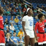 Gabby Connally thinks the ball should go Georgia's way. Maria Noble/WomensHoopsWorld.
