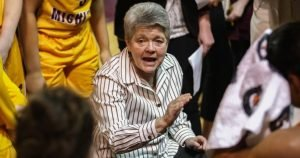 Sue Guevara guided Central Michigan to a first-ever Sweet 16 berth last season. Photo courtesy of Central Michigan Athletics.