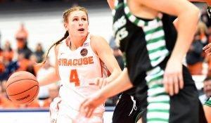 Tiana Mangakahia led Syracuse over DePaul. Syracuse.com photo.