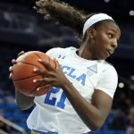 MIchaela Onyenwere swings the ball. Photo by Maria Noble/WomensHoopsWorld.