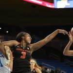 Oregon State players try to maintain ball possession. Maria Noble/WomensHoopsWorld.