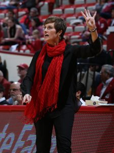 Coach Teri Moren is in her fifth season at the helm of the Hoosiers program. Photo courtesy of Indiana Athletics.