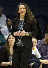 Carolyn Kieger is in her fifth season as head coach of the Golden Eagles. Photo courtesy of Marquette Athletics.