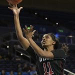 Erika Bean puts up a shot. Maria Noble/WomensHoopsWorld.