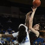 Michaela Onyenwere guards Megan Huff. Maria Noble/WomensHoopsWorld.