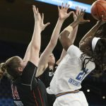 Michaela Onyenwere rises to score. Maria Noble/WomensHoopsWorld.