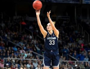 Katie Lou Samuelson fires up a bucket. Stephen Slade photo.