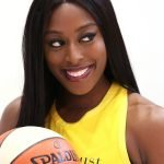 Tuesday, May 14, 2019 - Chiney Ogwumike attends the Los Angeles Sparks Media Day in Los Angeles, California. (Maria Noble/WomensHoopsWorld).