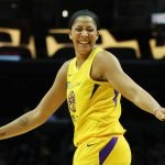 Candace Parker is happy at the end of the game. Maria Noble/WomensHoopsWorld.