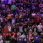 Friday, July 26, 2019 -Crowd during the skills challenge at the WNBA All-Star Weekend at Mandalay Bay in Las Vegas, NV. (Maria Noble)