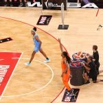 Friday, July 26, 2019 - Diamond DeShields wins the skills challenge  during the WNBA All-Star Weekend at Mandalay Bay in Las Vegas, NV. (Maria Noble)