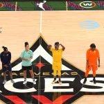 Friday, July 26, 2019 -  Three-point shooting contest participants are introduced  during the WNBA All-Star Weekend at Mandalay Bay in Las Vegas, NV. (Maria Noble)