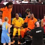 Friday, July 26, 2019 - Three-point shooting contest  during the WNBA All-Star Weekend at Mandalay Bay in Las Vegas, NV. (Maria Noble)