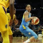 Sunday, August 11, 2019 - The Los Angeles Sparks in action against the Chicago Sky at Staples Center in Los Angeles, California. (Maria Noble)